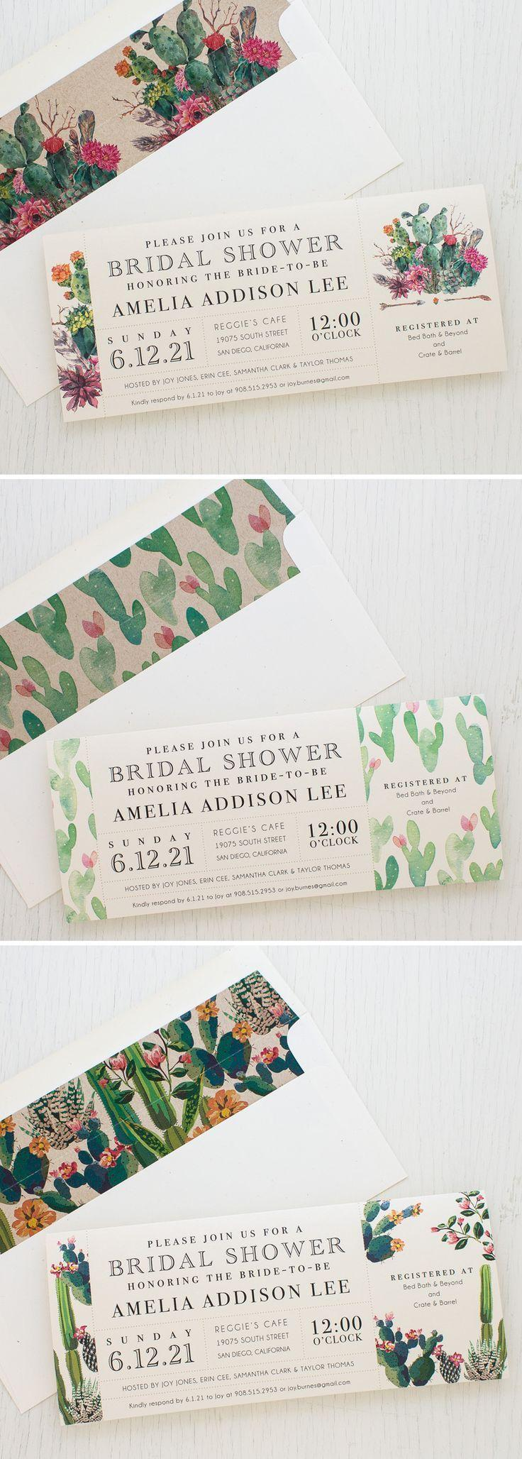Wedding - Desert Blooms Customizable Bridal Shower Invites