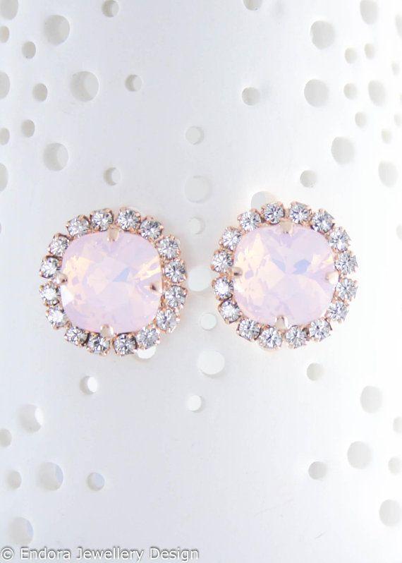 Wedding - Rose Gold Earrings