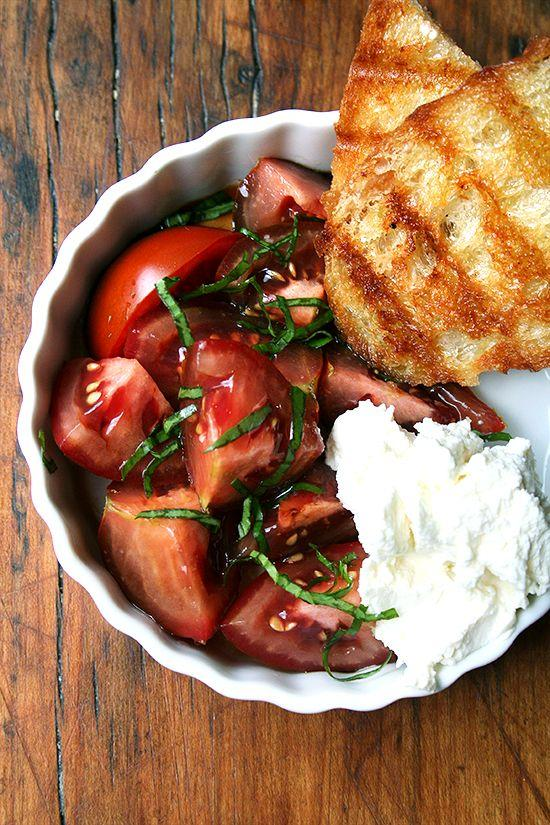 Wedding - Tomato Salad With Fresh Ricotta And Grilled Bread