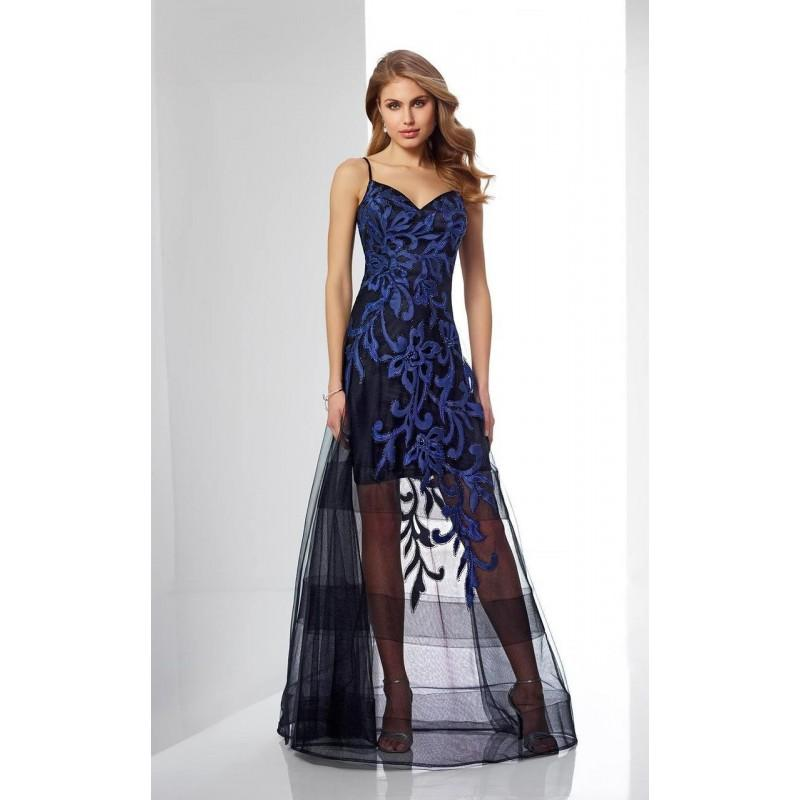 Mariage - Social Occasions by Mon Cheri - 217842 Sleeveless Floral Long Dress - Designer Party Dress & Formal Gown