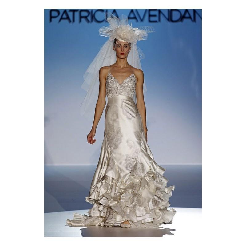 Wedding - Patricia Avendaño 2013 Sirena Tirantes - Tienda nupcial con estilo del cordón