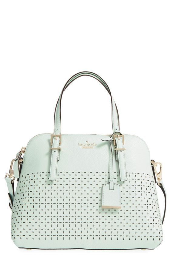 Mariage - Kate Spade New York 'Milton Lane - Maise' Perforated Leather Satchel