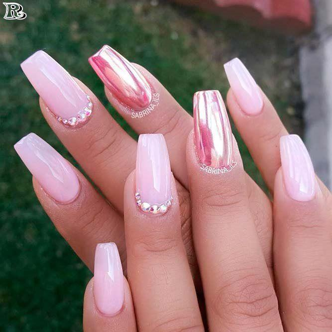 Wedding - 30 Stunning And Amazing Pink Acrylic Nails