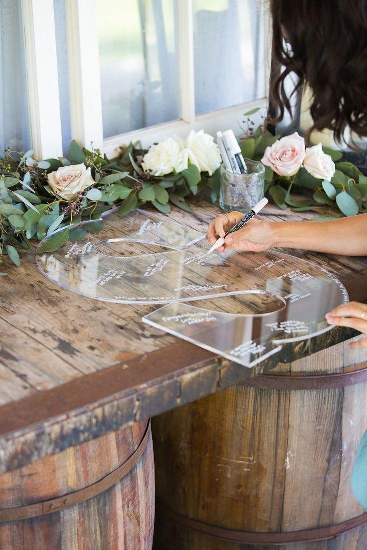 Clear Wedding Guest Book Monogram Letter Sign 22 Letter For