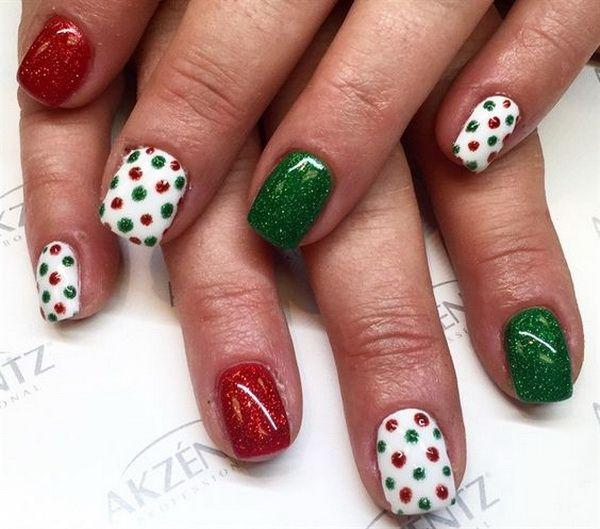 Hochzeit - 65  Festive Nail Art Ideas For Christmas