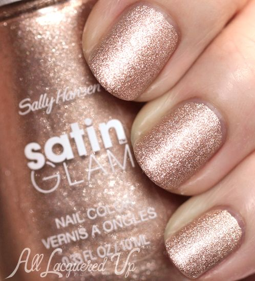 Hochzeit - New! Sally Hansen Satin Glam Nail Polish Swatches & Review