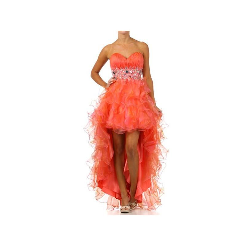 Mariage - Ruffle Organza High Low Prom dress - Crazy Sale Bridal Dresses