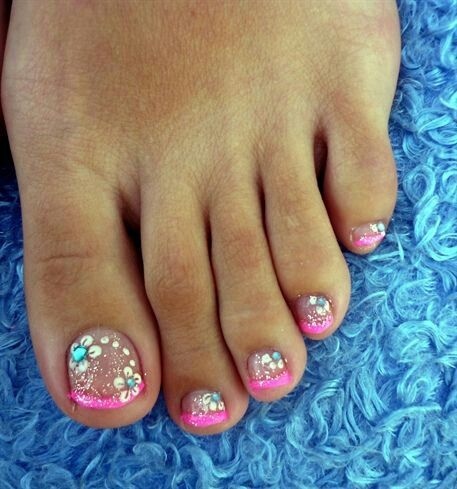 Wedding - Toe Nail Art