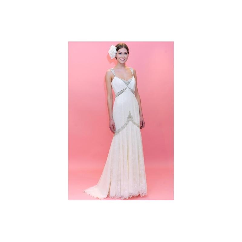 Mariage - Badgley Mischka SS13 Dress 2 - Sleeveless Spring 2013 Full Length A-Line White Badgley Mischka - Rolierosie One Wedding Store