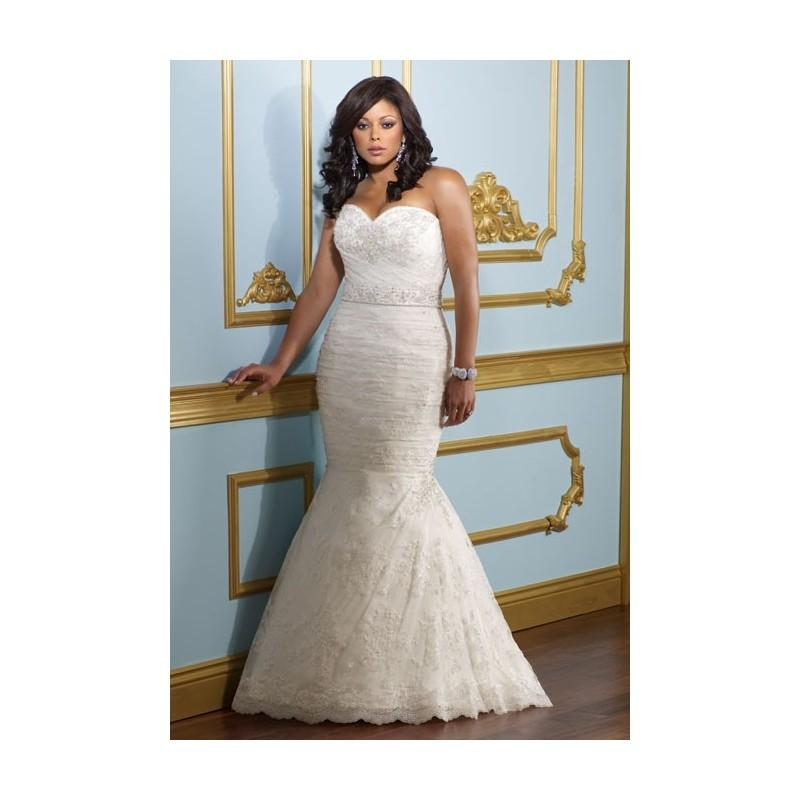 Wedding - Mori Lee - Style 3111 Embroidered Lace Plus-Size Wedding Dress - Stunning Cheap Wedding Dresses