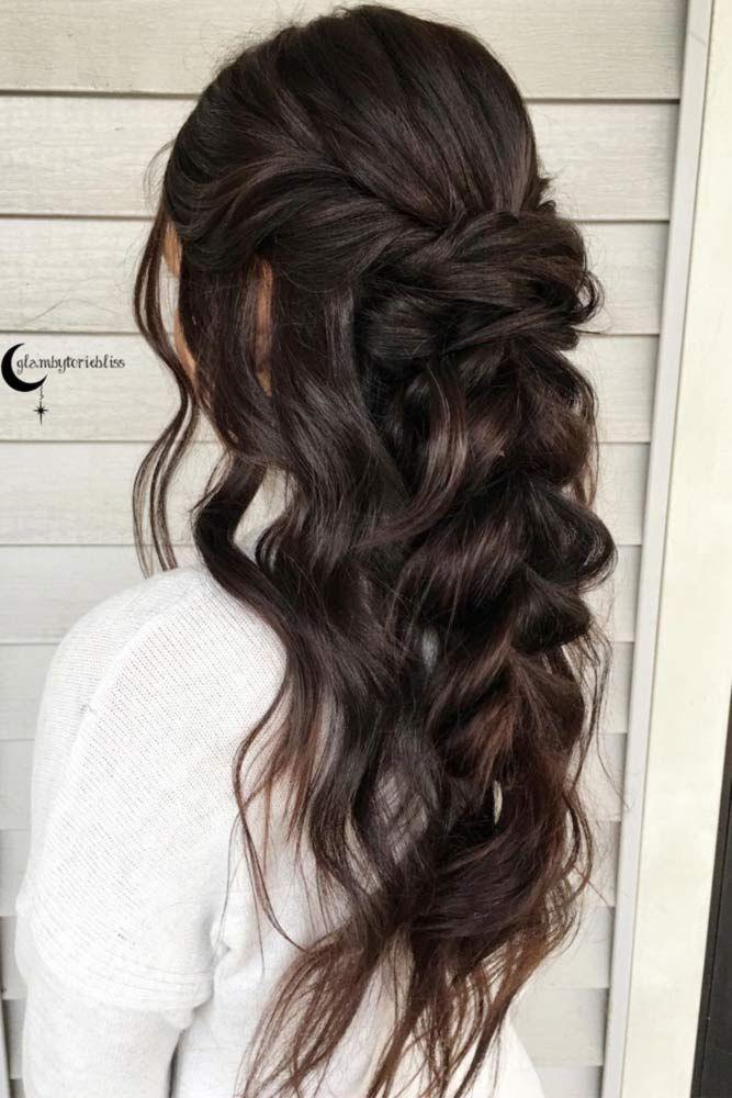 24 Chic Half Up Half Down Bridesmaid Hairstyles 2846453 ...