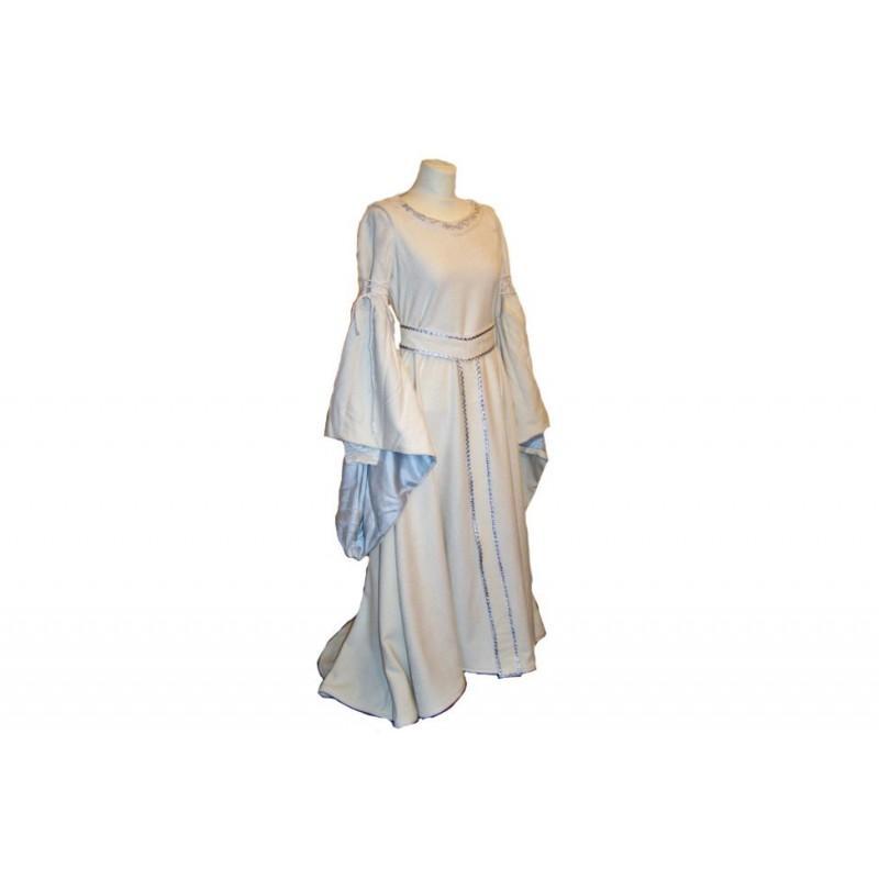 Wedding - Eowyn white wool dress, LotR dress, Eowyn cosplay, white wedding dress, medieval wedding dress, winter wedding dress - Hand-made Beautiful Dresses