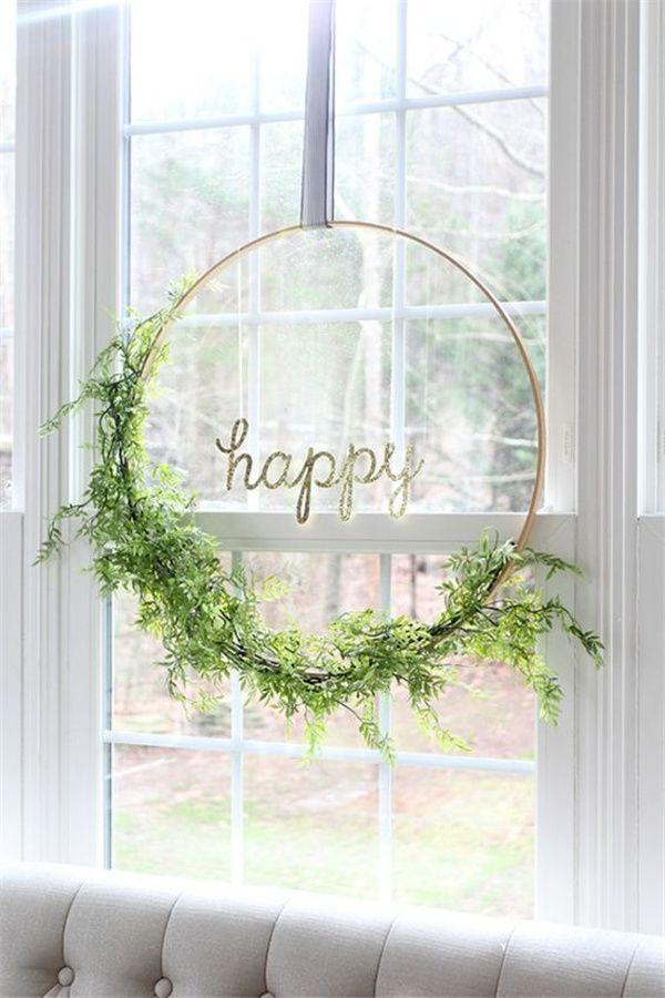 Boda - Top 22 Greenery DIY Wedding Wreath Ideas Worth Stealing