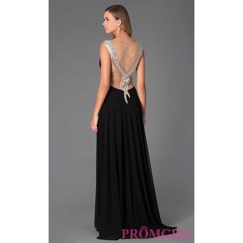Hochzeit - Long Formal Sheer Back Dress by Alyce AL-35684 - Brand Prom Dresses