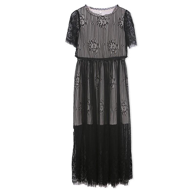 Wedding - Split Front Summer Lace Dress - Lafannie Fashion Shop