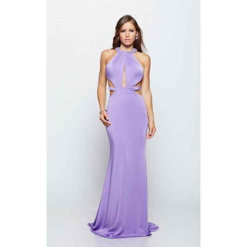 Свадьба - Milano Formals - Bedazzled Halter Neck Cutout Bodice Long Dress E2107 - Designer Party Dress & Formal Gown
