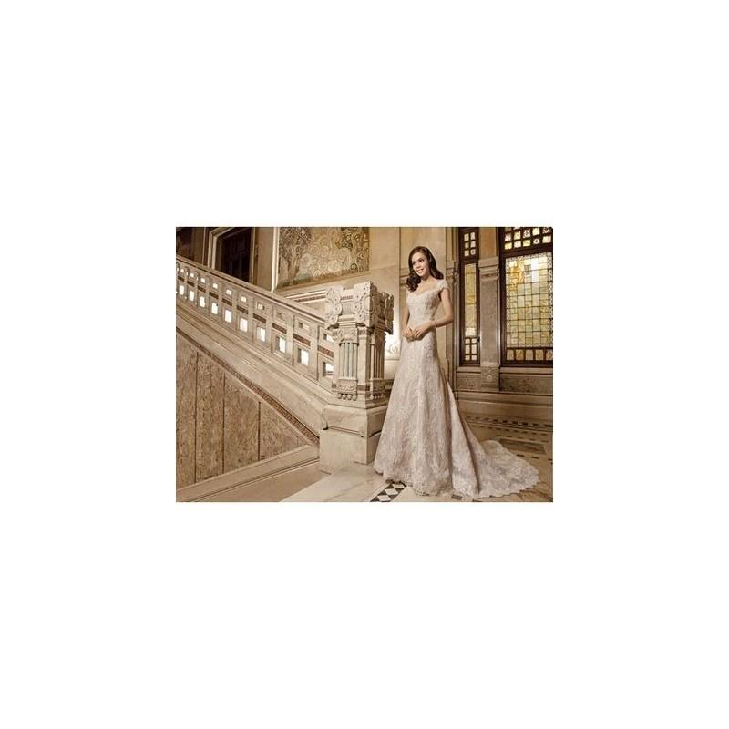 Свадьба - Demetrios Modelo 1494 2015 Evasé Tirantes - Tienda nupcial con estilo del cordón