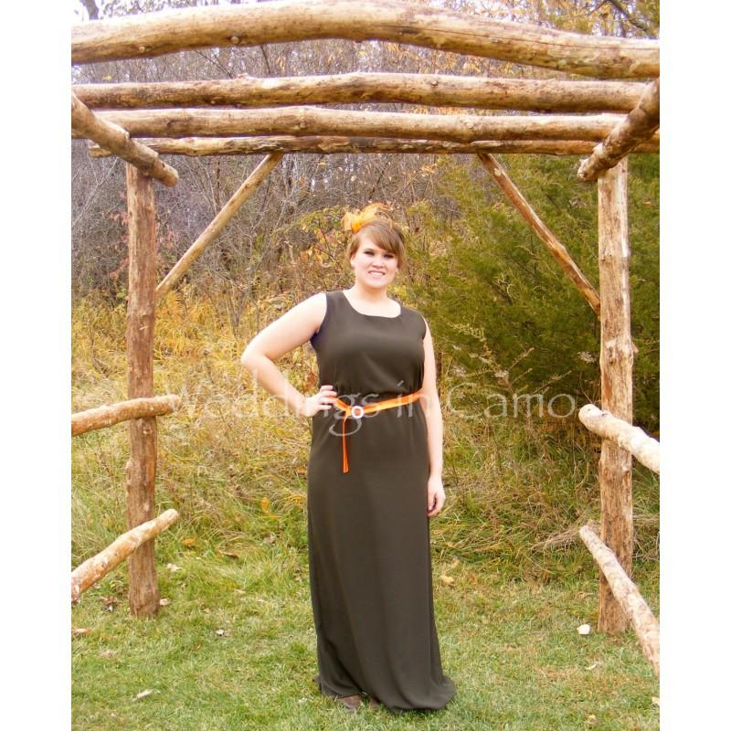 Свадьба - LONG Bridesmaid dress PLUS SIZES Camo or Country Colors - Hand-made Beautiful Dresses