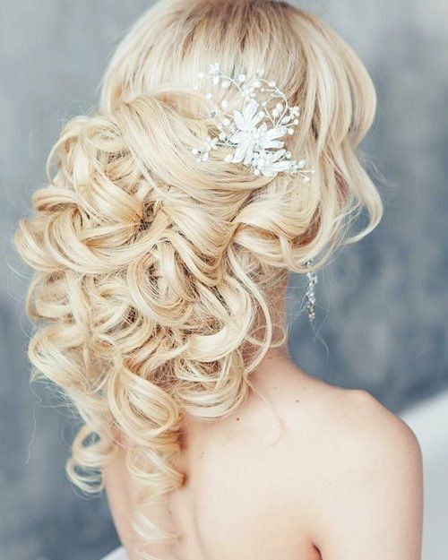 Mariage - 73 Unique Wedding Hairstyles For Different Necklines 2017