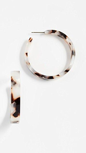 Mariage - Isabelle Tortoise Hoop Earrings