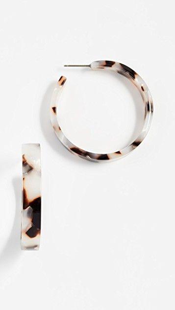 Свадьба - Isabelle Tortoise Hoop Earrings