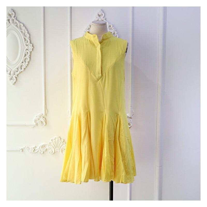 Hochzeit - Sweet High Neck Sleeveless Trail Dress Fine Lady Summer Dress Sleeveless Top - Discount Fashion in beenono