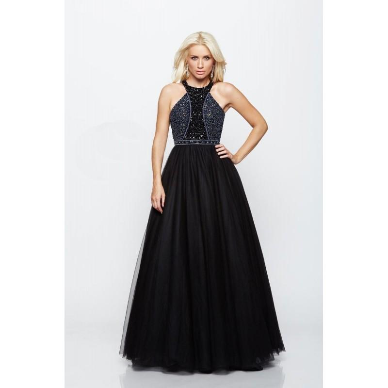 Hochzeit - Milano Formals - Embellished Halter Evening Gown E2104 - Designer Party Dress & Formal Gown