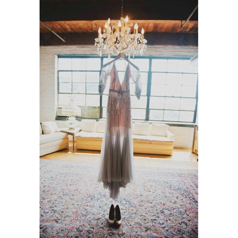 Свадьба - Jenny Packham Grey Backless Dress Inspired Wedding Gown - Hand-made Beautiful Dresses