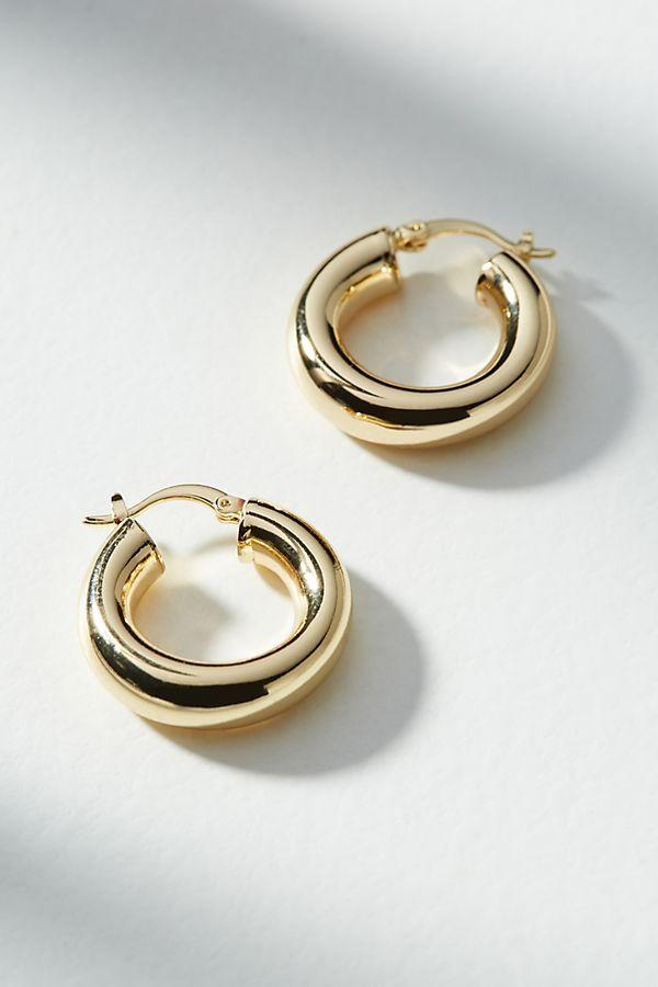 زفاف - Penelope Hugger Hoop Earrings