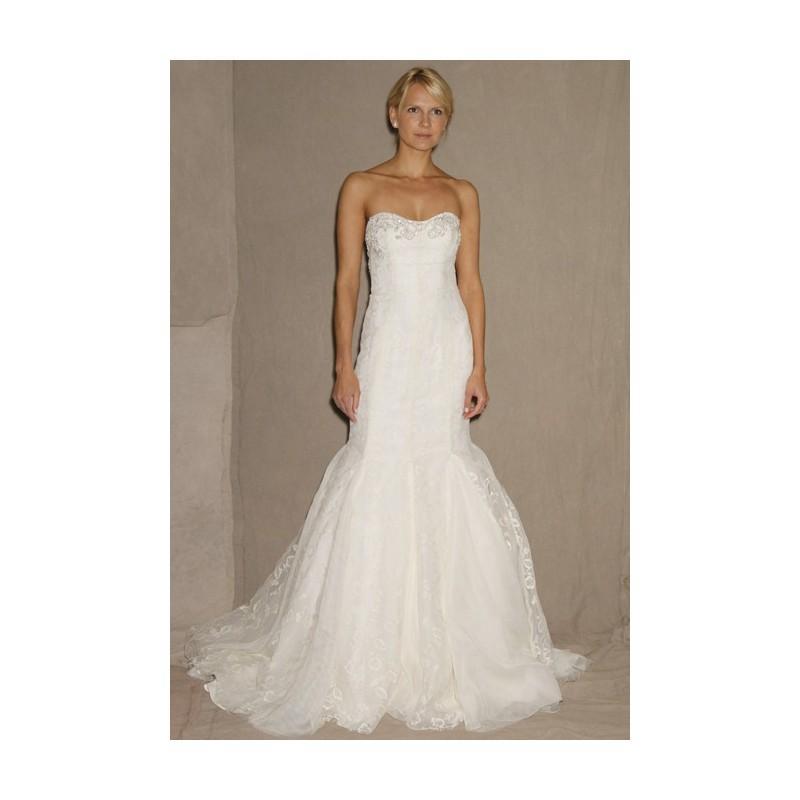 Mariage - Lela Rose - Spring 2013 - Madison Square Strapless Lace Mermaid Wedding Dress with Beaded Scoop Bodice - Stunning Cheap Wedding Dresses