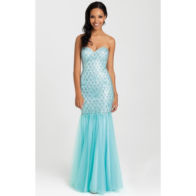 Hochzeit - Aqua Madison James 16-300 Prom Dress 16300 - Mermaid Sequin Dress - Customize Your Prom Dress