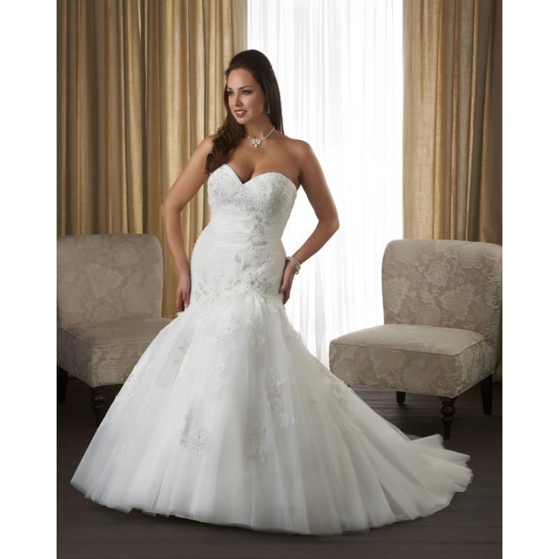 Hochzeit - Bonny Unforgettable 1315 Plus Size Wedding Dress - Crazy Sale Bridal Dresses