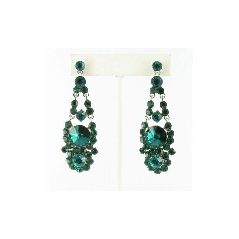 Hochzeit - Helens Heart Earrings JE-X007126-S-Emerald Helen's Heart Earrings - Rich Your Wedding Day