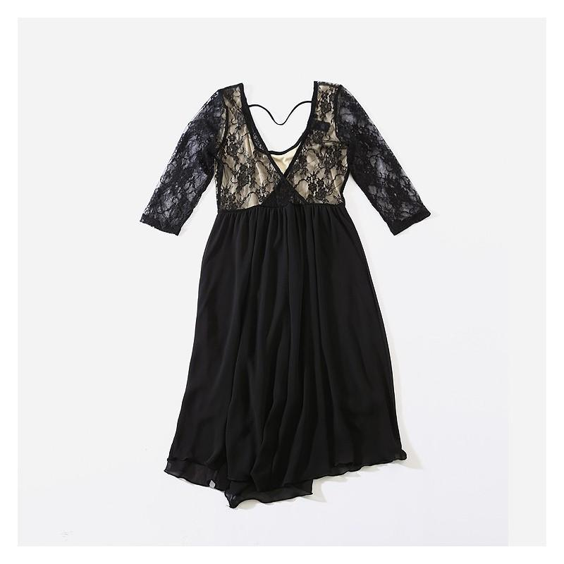 زفاف - Sexy Curvy Lace Semi Transparent Dress - Lafannie Fashion Shop