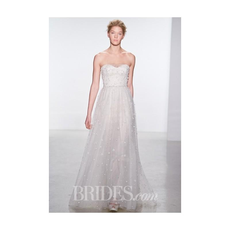 Свадьба - Christos - Spring 2015 - Strapless Beaded A-Line Wedding Dress with a Sweetheart Neckline - Stunning Cheap Wedding Dresses
