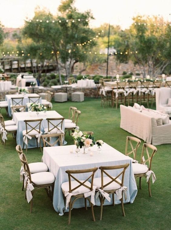 Wedding - Top 20 Classic Romantic Dusty Blue Wedding Decor Ideas