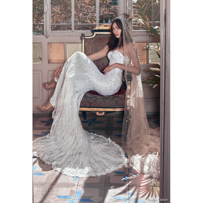 Hochzeit - Galia Lahav Inez Spring/Summer 2018 Chapel Train Sweet Illusion Spring Long Sleeves Dress For Bride Illusion Dress For Bride - Truer Bride - Find your dreamy wedding dress