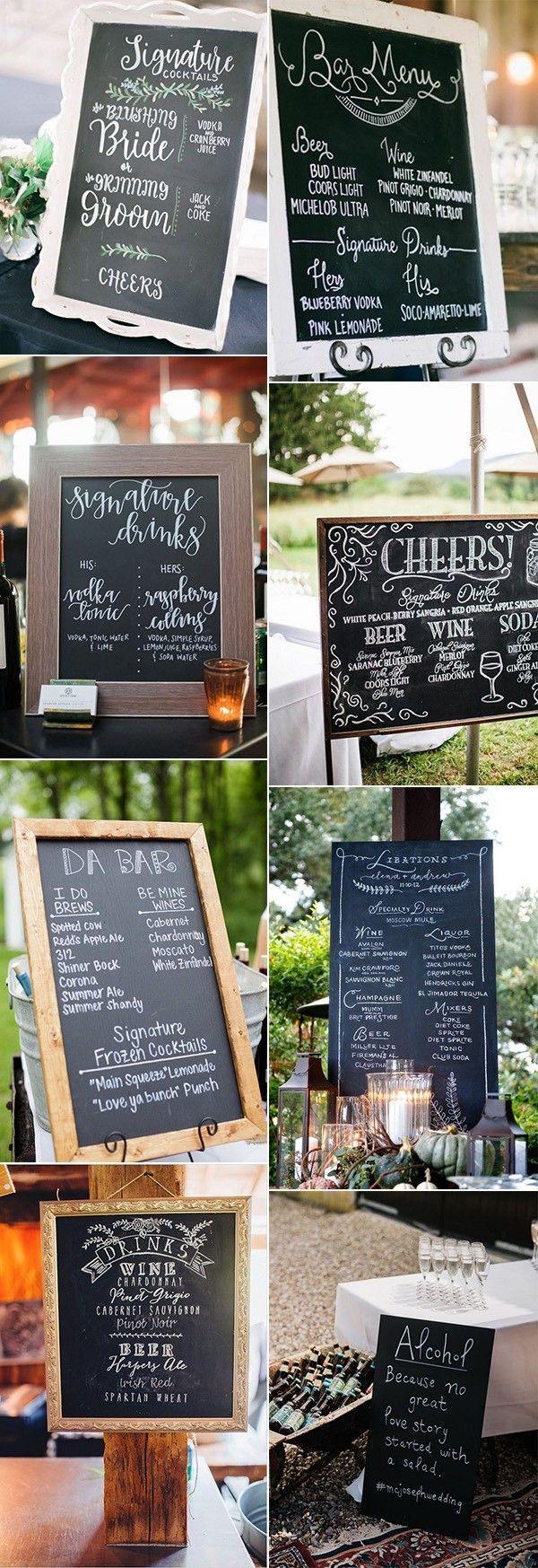 Hochzeit - 18 Brilliant Wedding Drink Station Sign Ideas