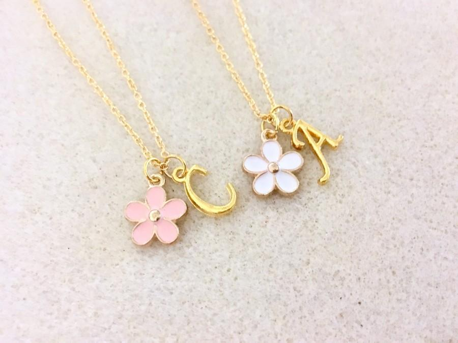 Mariage - Flower girl gift personalized flower girl necklace junior bridesmaid gift childrens necklace jr bridesmaid gift for flower girl proposal