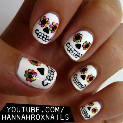 زفاف - Pinterest's Best Halloween Nail Designs
