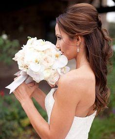 Mariage - Half Up Half Down Long Wedding Hairstyles 2015