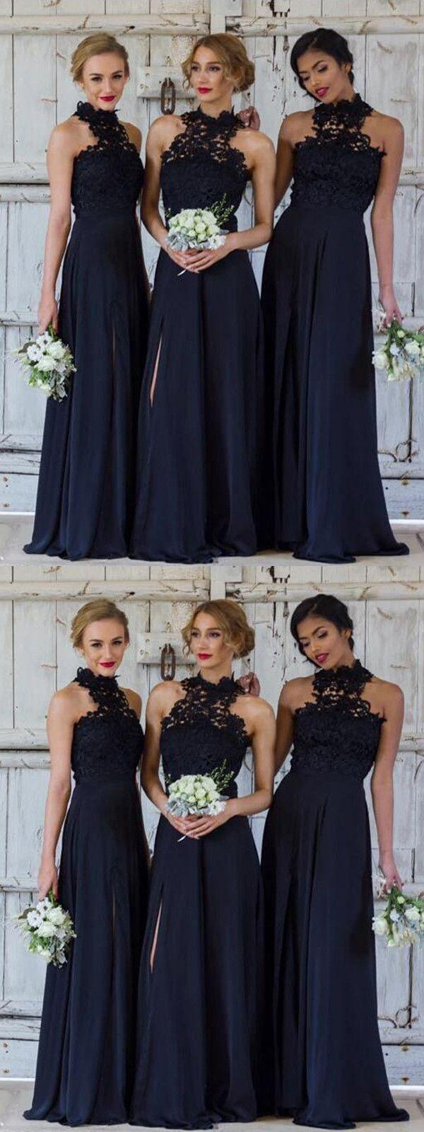 Wedding - Chic Lace Bridesmaid Dresses Chiffon Cheap Bridesmaid Dresses # VB2404