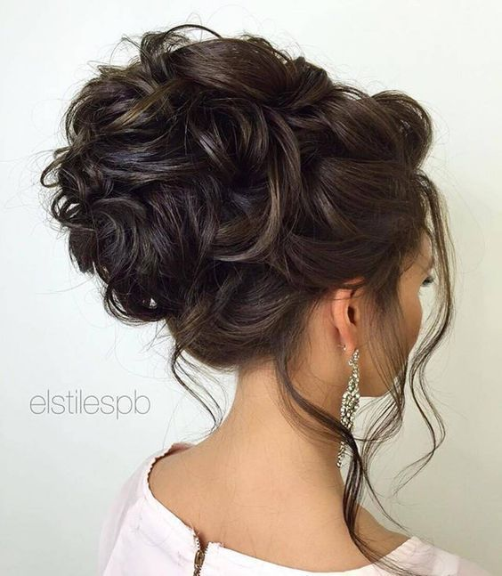 Hair Loose Curly Updo Wedding Hairstyle 2852843 Weddbook