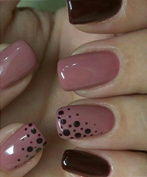 Hochzeit - Fabulous Pink And Blood Red Dotted Nail Art Designs