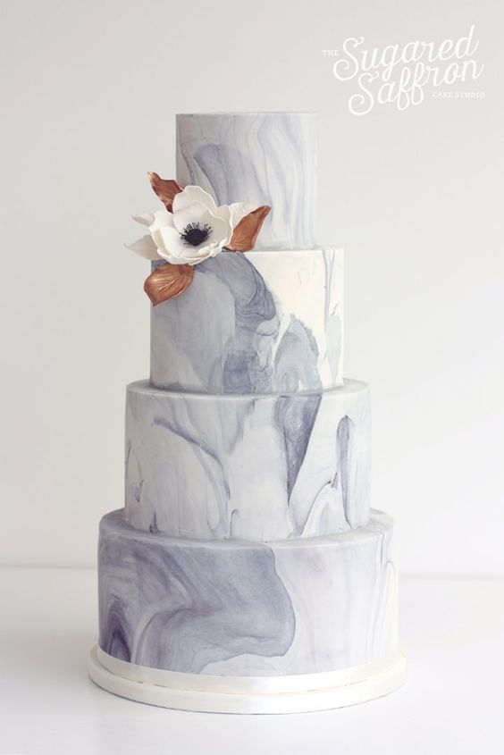 Mariage - 40 Must See Marble Wedding Cake Ideas