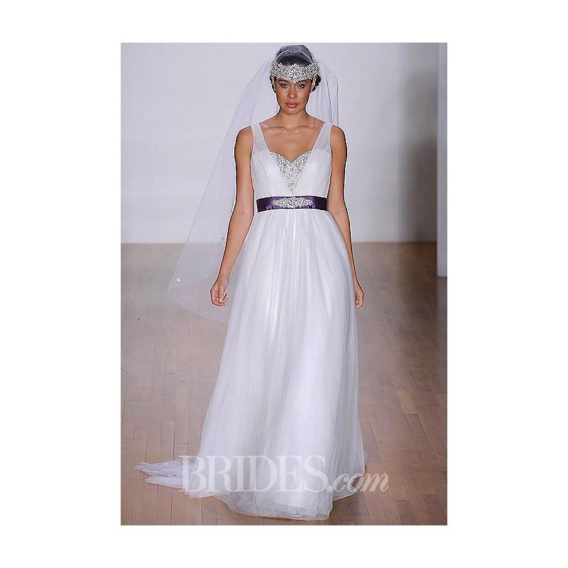 Wedding - Alfred Angelo - 2014 - Style 237 Jasmine A-Line Wedding Dress with Beaded Sweetheart Bodice and Ruched Straps - Stunning Cheap Wedding Dresses