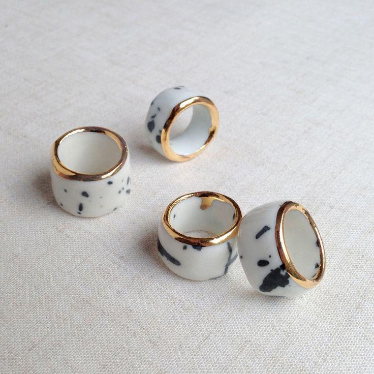Hochzeit - Porcelain Bling-rings