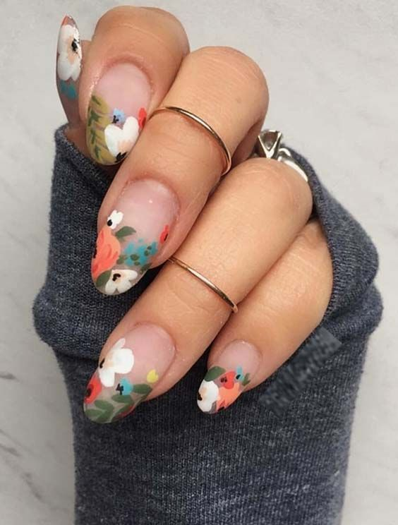 Свадьба - 28 Cute Flower Nail Arts & Images For Women 2018