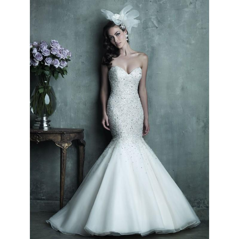 Wedding - Allure Couture C286 Beaded Mermaid Wedding Dress - Crazy Sale Bridal Dresses