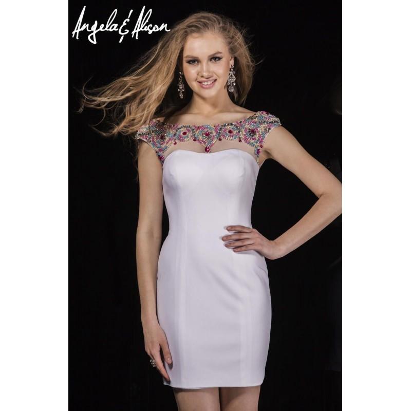 Wedding - Angela and Alison 42008 Short Homecoming Dress - Brand Prom Dresses